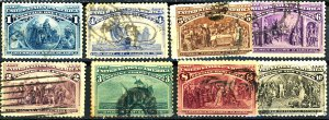 U.S. #230-237 USED SET MIXED CONDITION
