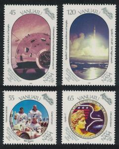 Vanuatu 20th Anniversary of First Manned Landing on Moon 4v SG#530-533
