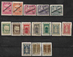 COLLECTION LOT # 106 FIUME 15 STAMPS 1922+ CV + $131