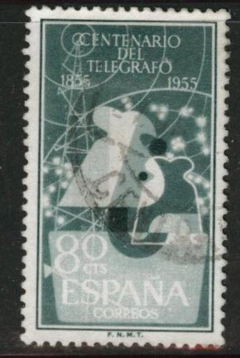 SPAIN Scott 840 Used from 1955 Telegraph set