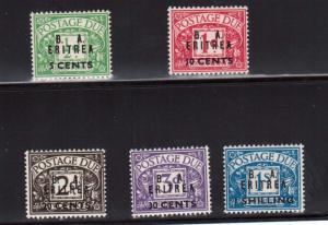 Great Britain Offices In Eritrea #J6 - #J10 VF Mint