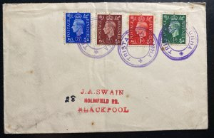 1937 Tristan Da Cunha King George VI Stamps Cover To Blackpool England