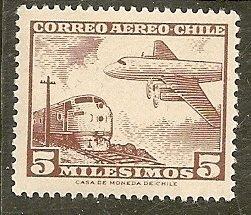 Chile  Scott  C234   Plane, Train   MNH
