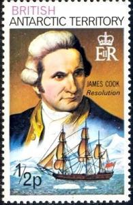 Captain Cook & Resolution, British Antarctic Territory SC#45 MNH