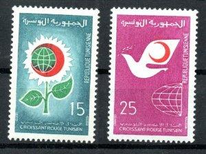 1968 - Tunisia - The Tunisian Red Crescent - Flower- Dove- Complete set 2v.MNH**