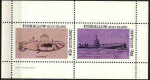 {E150} Eynhallow Scotland Ships Submarines Sh.2 MNH Cinderella !!