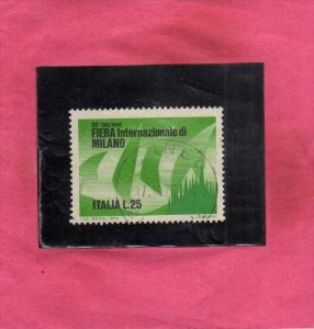 ITALIA REPUBBLICA ITALY REPUBLIC 1972 FIERA DI MILANO 50 50th MILAN FAIR LIRE...