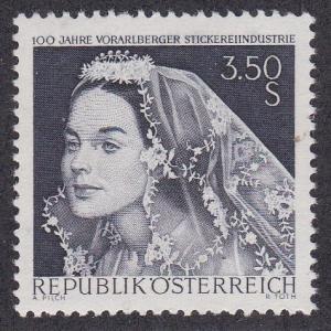 Austria # 811, Bride with Lace Veil, NH