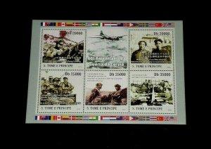 TOPICAL MIXED, 2010,TOME E PRINCIPE, KOREAN WAR, S/S, LOT #86, MNH, LQQK