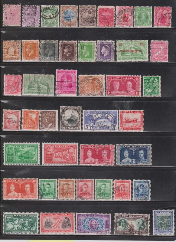 NEW ZEALAND  - Lot Of Older Mint Hinged & Used Issues To 1953 - Nice Stamps