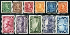 HERRICKSTAMP CANADA Sc.# 217-27 1935 KG V Stamps MInt NH Cat. Value $200.00