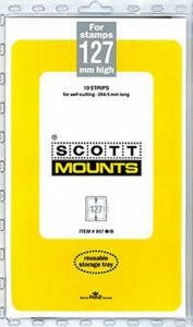 Prinz Scott Stamp Mount 127 / 265 BLACK Strip (Pack of 10) (127 mm 127x265)