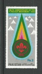 1982 Pakistan Boy Scout 75th anniversary