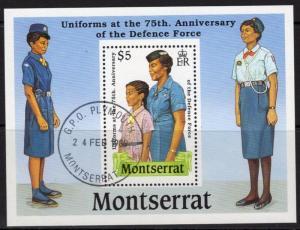 MONTSERRAT SGMS787 1989 DEFENCE FORCE FINE USED