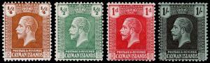 Cayman Islands Scott 50-52, 66 (1921-22) Mint H F-VF, CV $4.70 M