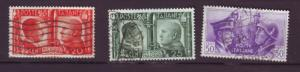 J20327 jlstamps 1941 italy part of set used #413-5 hitler mussolini