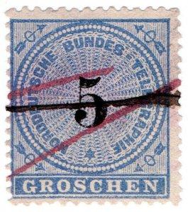 (I.B) Germany Telegraphs : North German Confederation 5gr