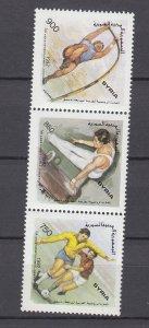 Z3955, 1992 syria set strip/3 mnh #1279 sports