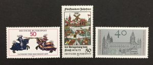 Germany  1975 #1167-9, Various Designs, MNH.