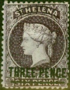 St Helena 1873 3d Deep Dull Purple SG12 Type A Fine Mtd Mint