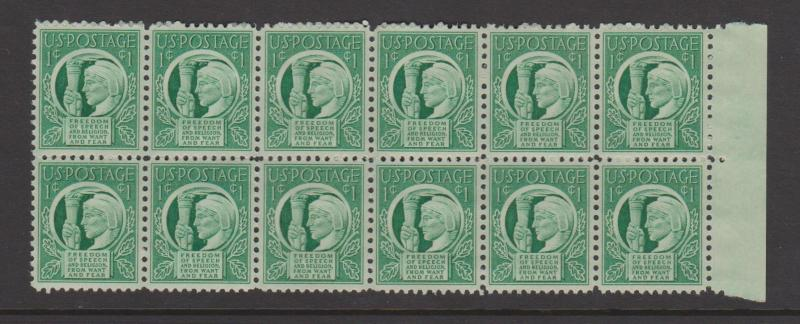 USA Sc#908 MNH Block of 12