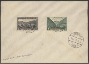 Germany 1940 WWII Occupied Luxemburg Luxembourg Souvenir Cover G101909