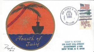 USS Donald B. Beary FF 1085  US Navy July 4th  Rogak Cover