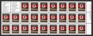 Canada SG1357b 43c perf 13.5 x 13 booklet pane of 25 Fresh U/M