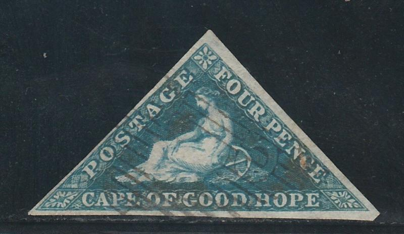 CAPE OF GOOD HOPE 1853 TRIANGLE 4D LIGHT BLUED PAPER