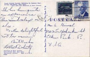 Cuba 1c Proposed Communications Building Postal Tax and 12c Hubert de Blanck ...