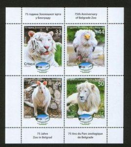SERBIA-MNH-BOOKLET-BIRDS-EAGLE-LION-KANGAROO-TIGER-2011