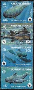 Cayman Islands #902-5 MNH Strip - WWF - Pilot Whales