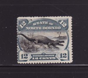 North Borneo 65a MHR Reptiles, Saltwater Crocodile