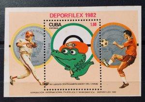 CUBA 1982 SC# 2534 DEPOR FILEX 82 Exhibition Souvenir Sheet MNH