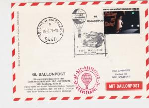 Austria 1971 House Hallein Slogan Balloon Post Stationary Stamps Card Ref 27524