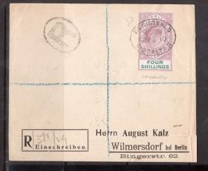 Gibraltar #61 (SG #63) Very Fine Used On Registered Cover To Germany
