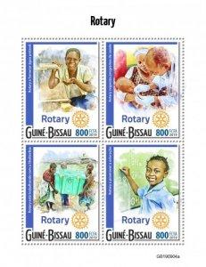 GUINEA BISSAU - 2019 - Rotary International - Perf 4v Sheet - M N H