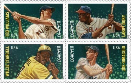 2012 45c Major League Baseball All-stars, Block of 4 Scott 4694-97 Mint F/VF NH