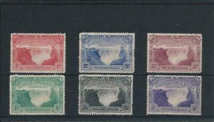 RHODESIA 1905 SET WITH 5d PERF 14½-15 BIRD IN TREE MM SG 94/99 with 96a