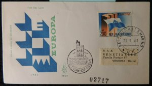 San Marino 1963 FDC europa cept flags good used