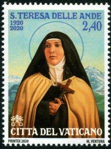 HERRICKSTAMP NEW ISSUES VATICAN St. Teresa of Jesus of Los Andes