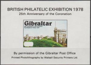 Gibraltar  1978 British Exhibition Sheet  MNH  (SU185)