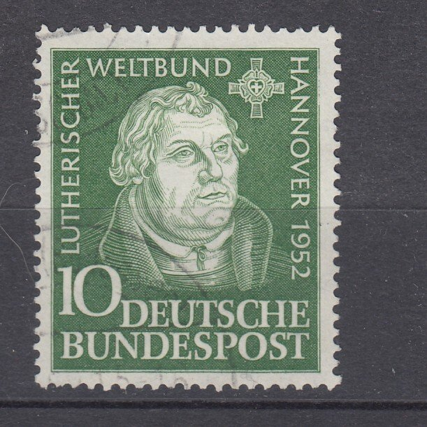 J28712, 1952 germany set of 1 used #689 marin luther