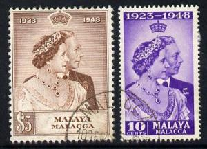 Malaya - Malacca 1948 KG6 Royal Silver Wedding perf set o...