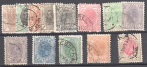 Romania 132//134//135 (13 used stamps)