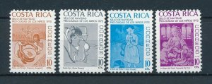 [104160] Costa Rica 1975 Postal tax children's village Christmas paintings  MNH