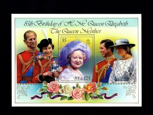 BELIZE - 1985 - QUEEN MOTHER - 85th BIRTHDAY - MINT - MNH S/SHEET!