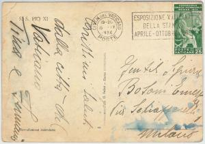 63318  - VATICANO - POSTAL HISTORY - POSTMARK on CARD 1936 -  PRESS Journalism