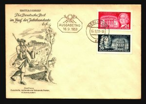 Germany DDR - 3 1953 Cacheted FDC - Z16009