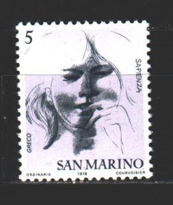 San Marino. 1978. 1162. virtues-wisdom. MNH.